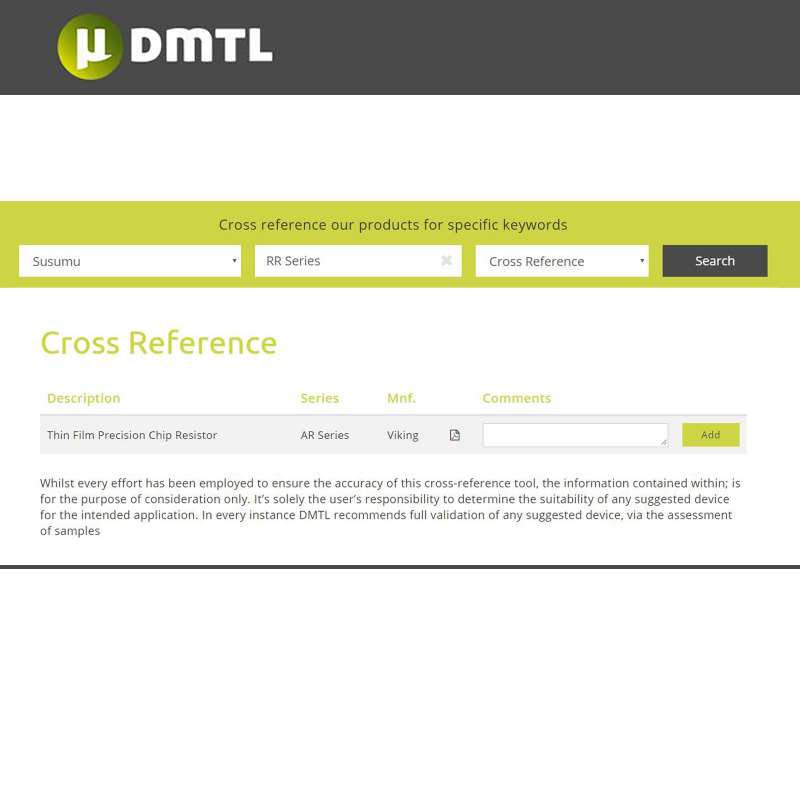 Resistor Alternatives | DMTL's New Cross-Reference Tool