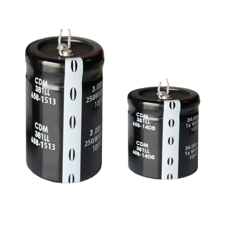 8,000 Hour, 105°C Aluminium Electrolytic Snap-in Capacitors